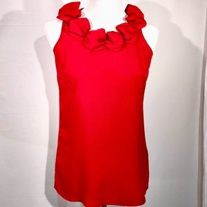 The Limited Red Sleeveless Blouse (S)